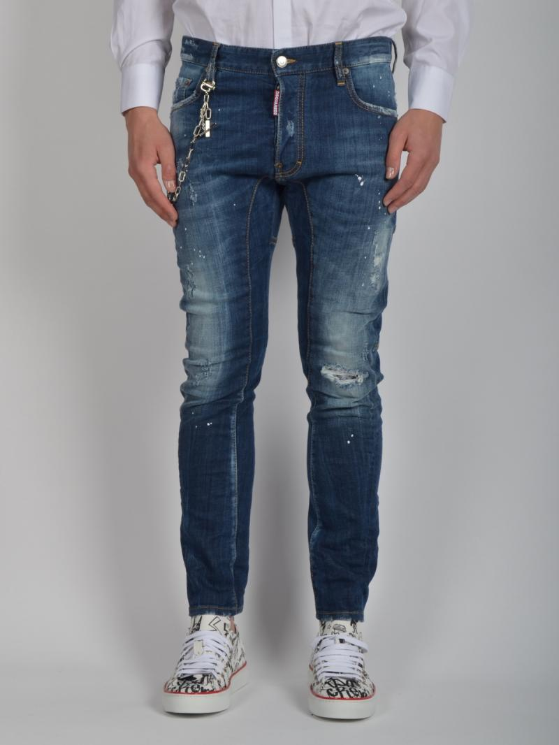 DSQUARED2 17CM TIDY BIKER  DENIM JEANS