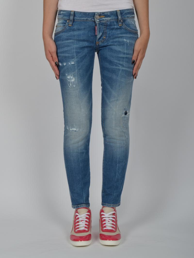 DSQUARED2 JEANS WOMEN S72LA0513 SUPER SLIM CROPPED JEAN