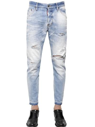 DSQUARED2  17.5CM  CLASSIC KENNY TWIST  DENIM JEANS