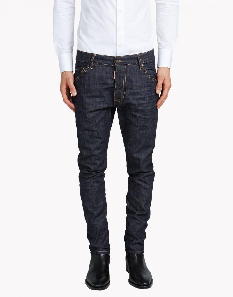 DSQUARED2  17.5CM  KENNY TWIST DARK WASH DENIM JEANS