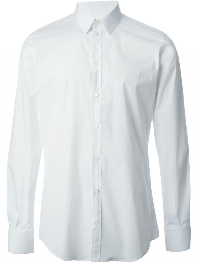 DOLCE&GABBANA STRETCH COTTON POPLIN GOLD FIT SHIRT