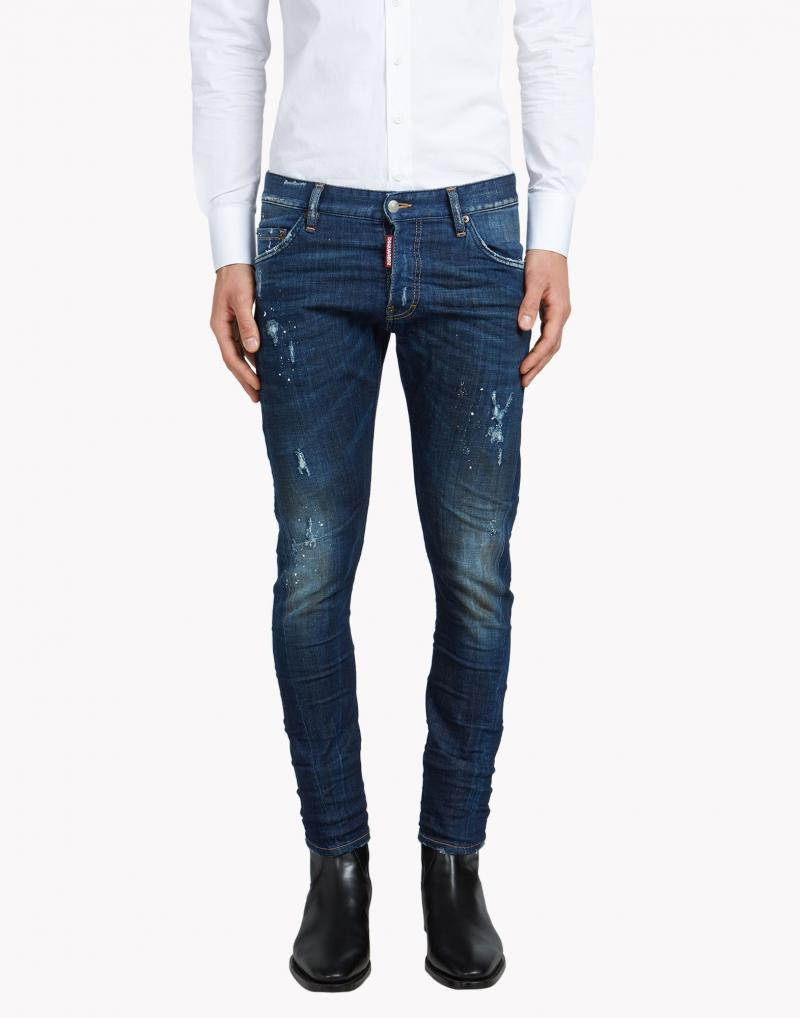 DSQUARED2  16CM SEXY TWIST MIDNIGHT  DENIM JEANS