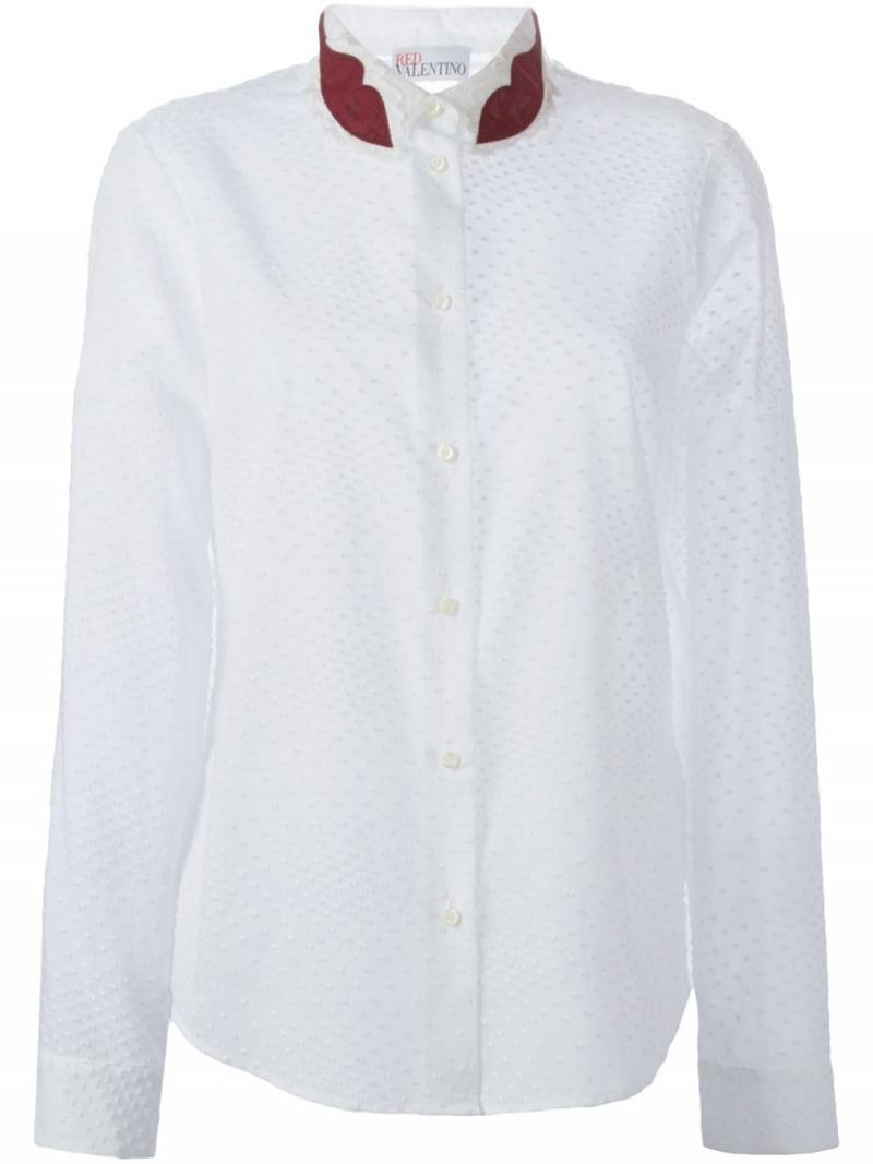 RED VALENTINO lip collar shirt
