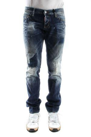 DSQUARED2 Slim used jeans with patches