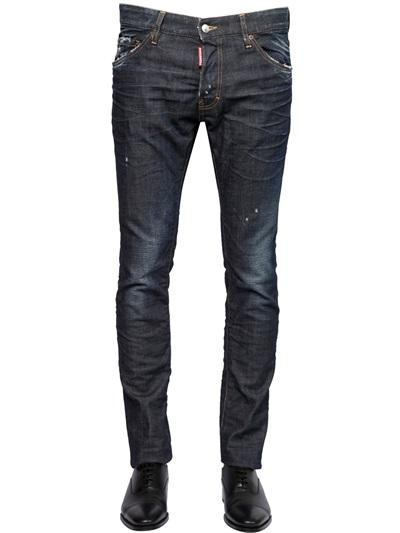 DSQUARED2 JEANS 16.5CM cool guy jean  DARK STRETCH DENIM