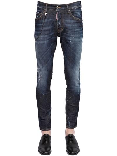 DSQUARED2 JEANS 16CM skater jean fit strech denim