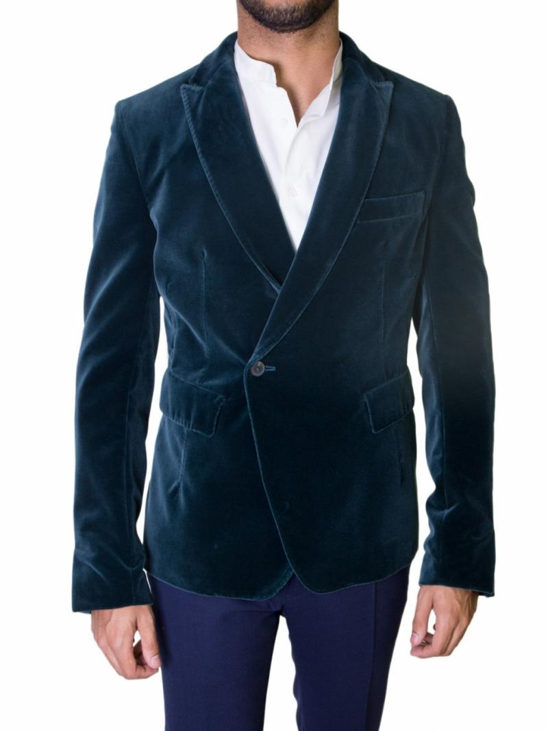 Haider Ackermann double breasted velvet blazer