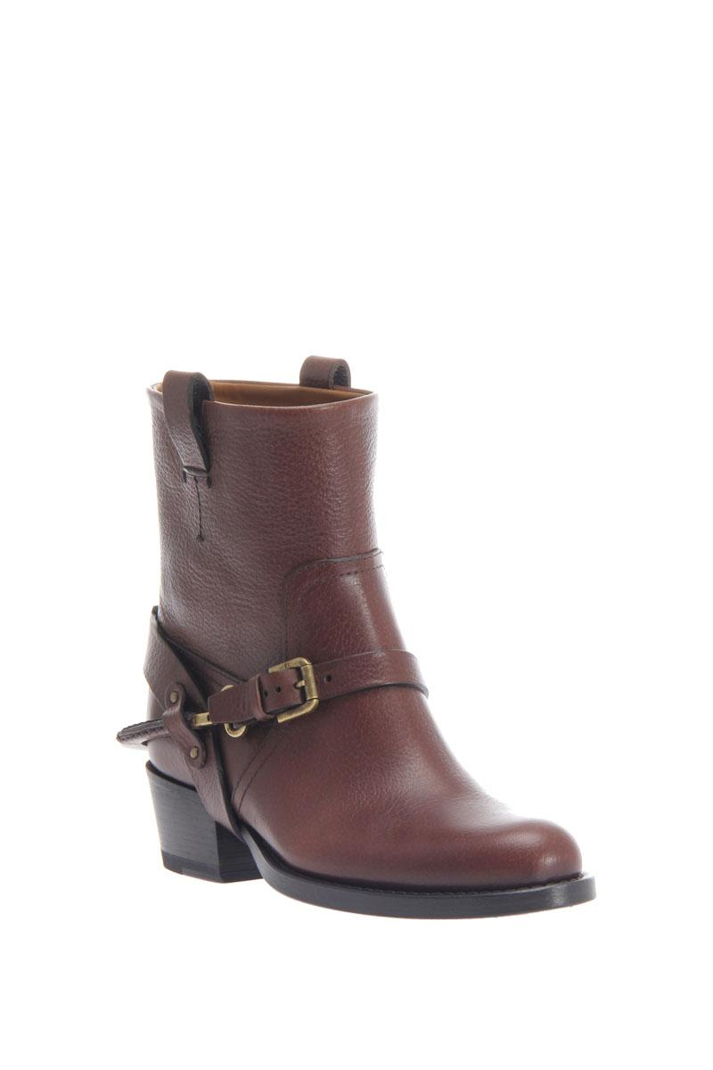 RALPH LAUREN bucled spur strap boots
