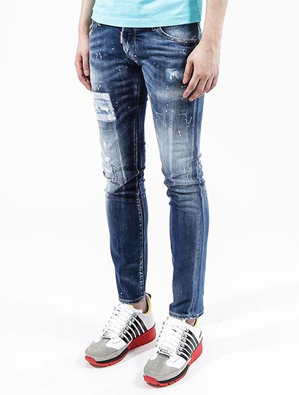DSQUARED2  JEANS 18CM SLIM JEAN  DENIM