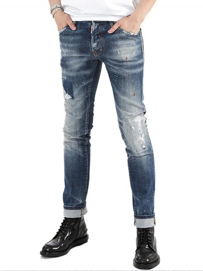 DSQUARED2 16.5CM COOL GUY Stretch Destroyed DENIM JEANS
