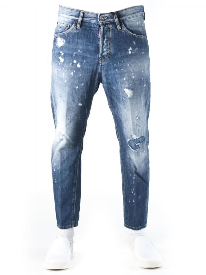 DSQUARED2 HOCKNEY COTTON DENIM JEANS