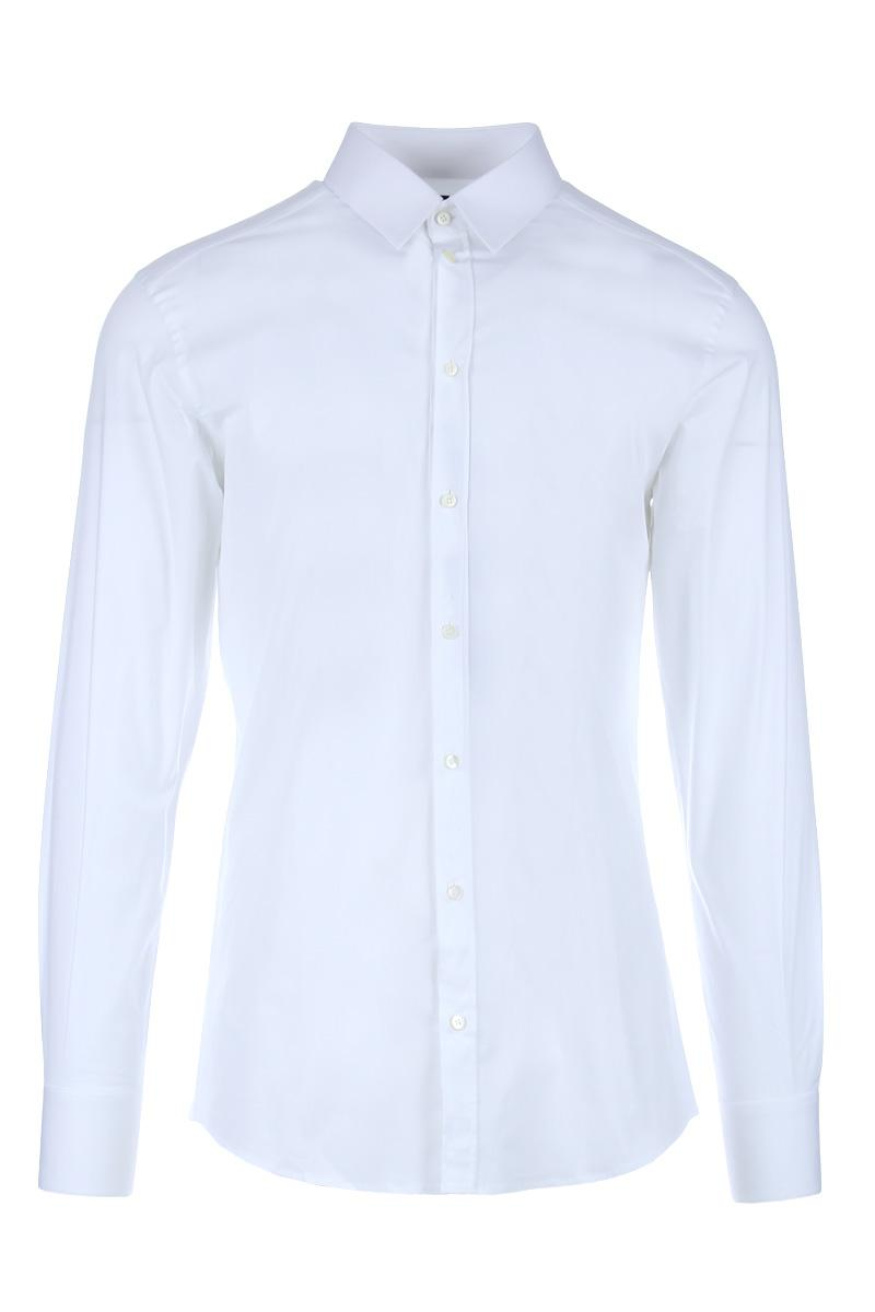 DOLCE&GABBANA gold fit stretch cotton poplin shirt