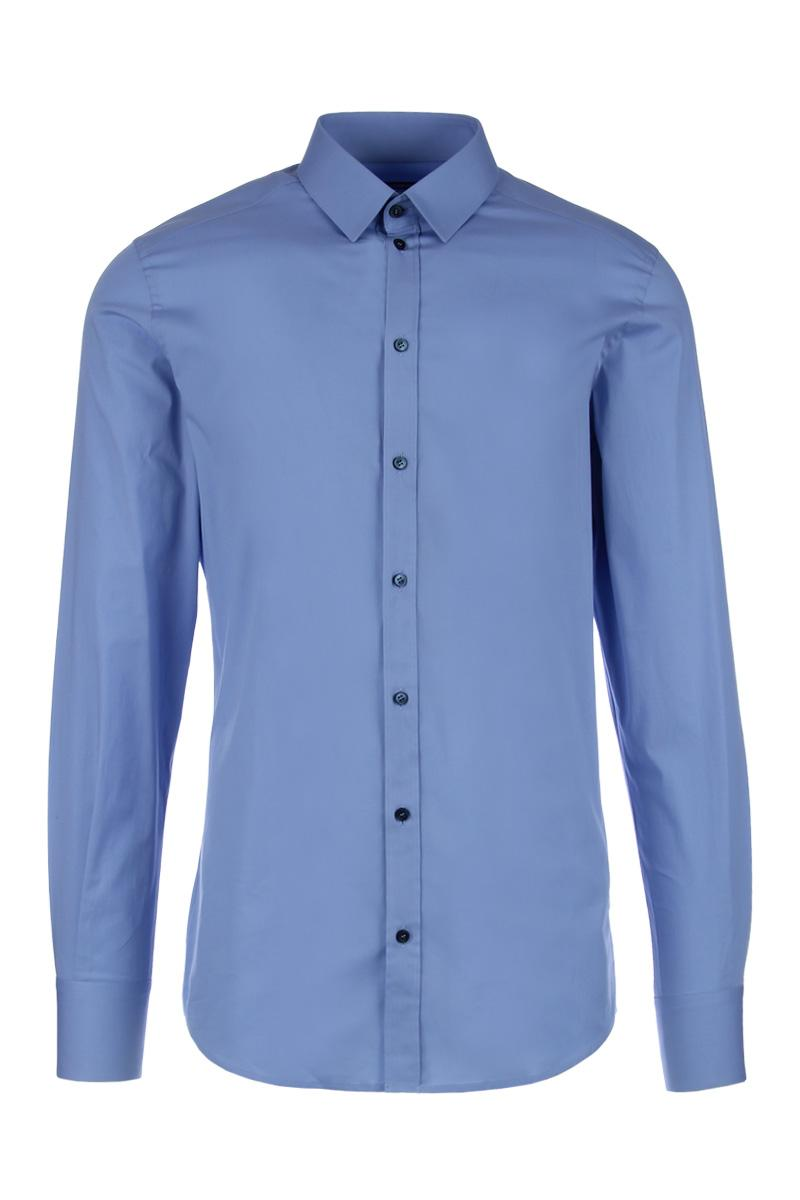 DOLCE&GABBANA gold fit cotton poplin shirt