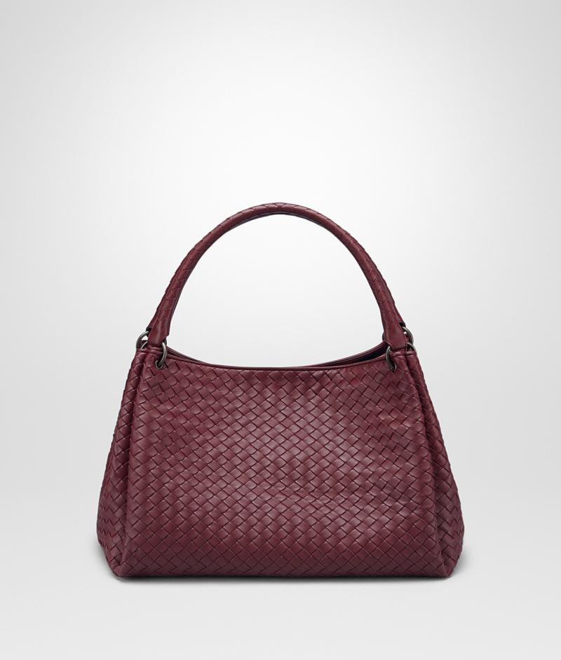 BOTTEGA VENETA MEDIUM PARACHUTE BAG IN BAROLO INTRECCIATO NAPPA