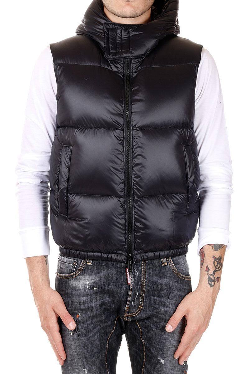 DSQUARED2  Gilet MISTY MOUNTAINS imbottito Con Cappuccio