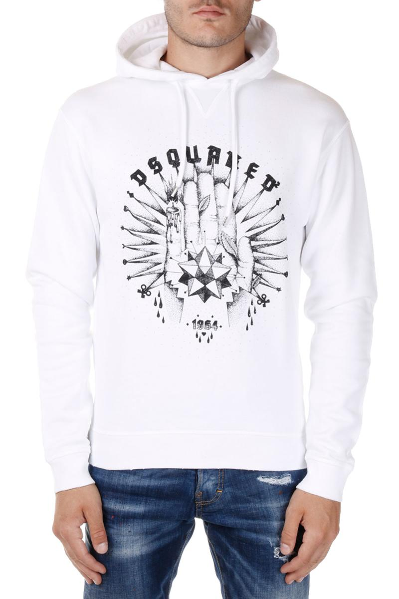 DSQUARED2  Hooded Printed Sweatshirt