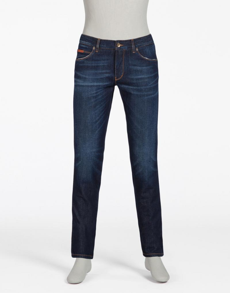 DOLCE&GABBANA GOLD 14 FIT JEANS WITH CROWN PATCH