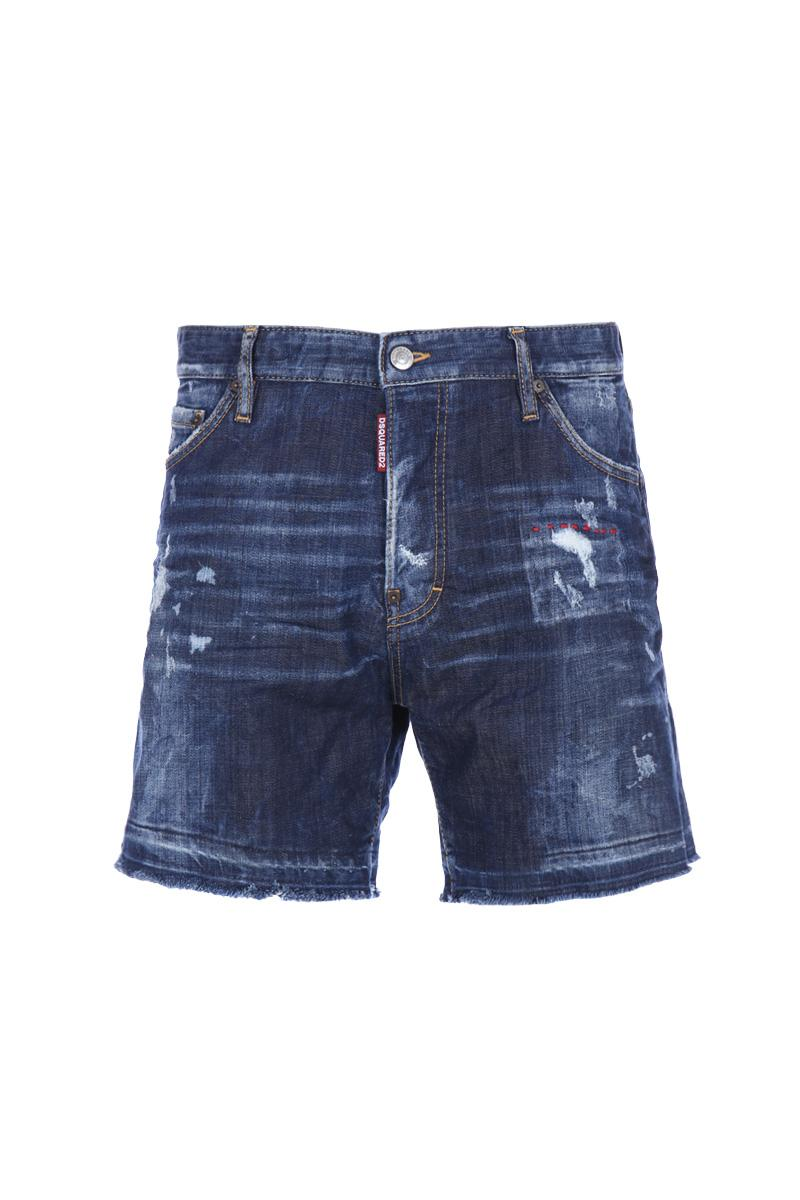 DSQUARED2 relaxed fit denim shorts