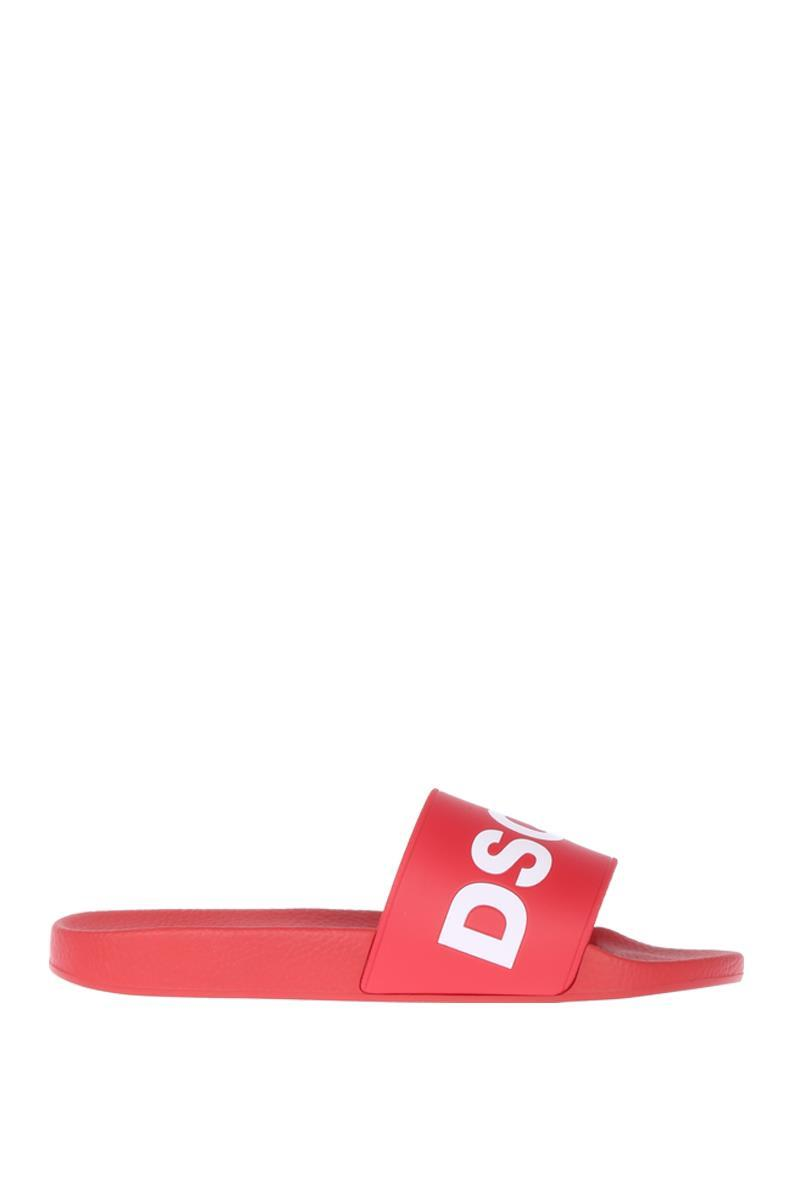 DSQUARED2 logoed slide sandals