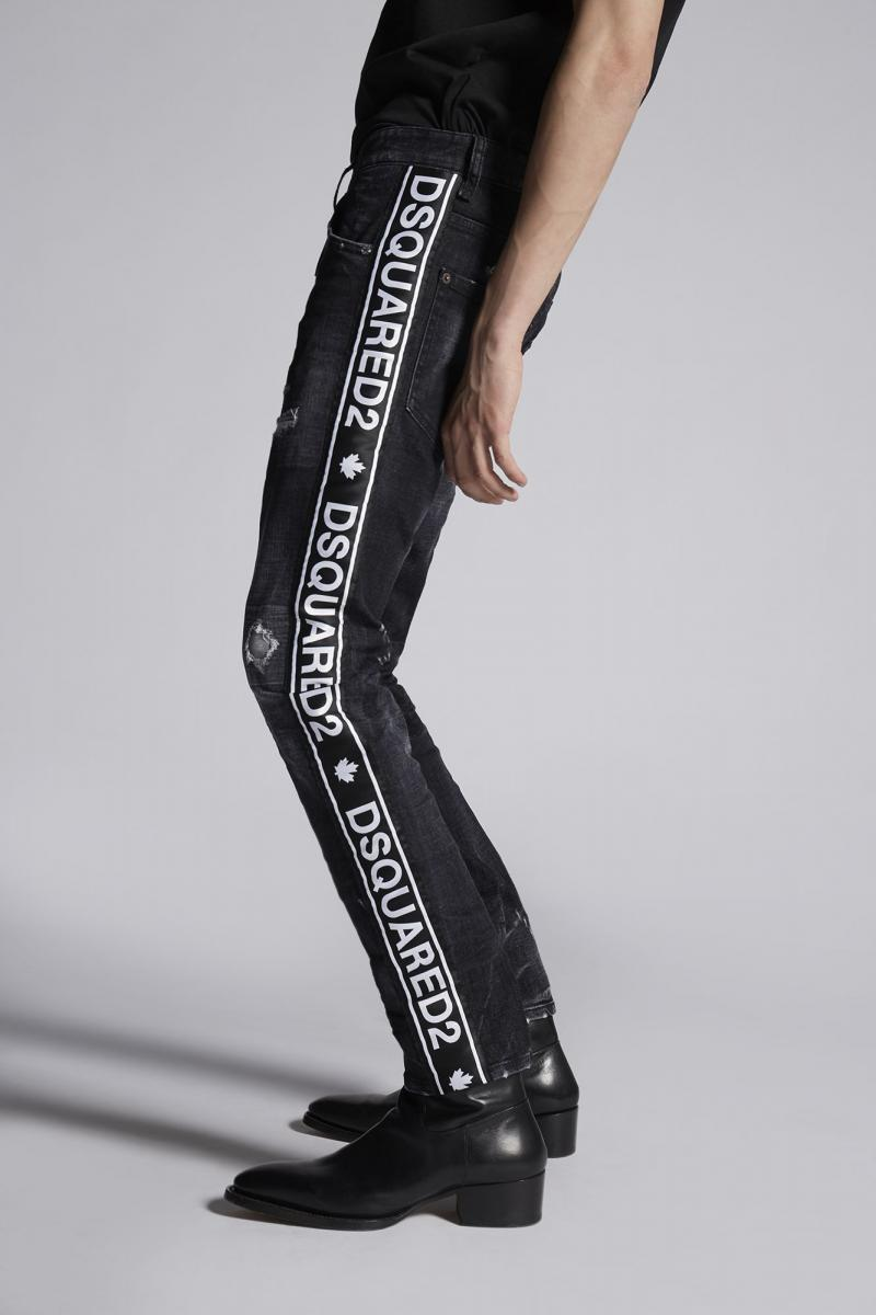 DSQUARED2 Black Twin Peaks Skater Jeans
