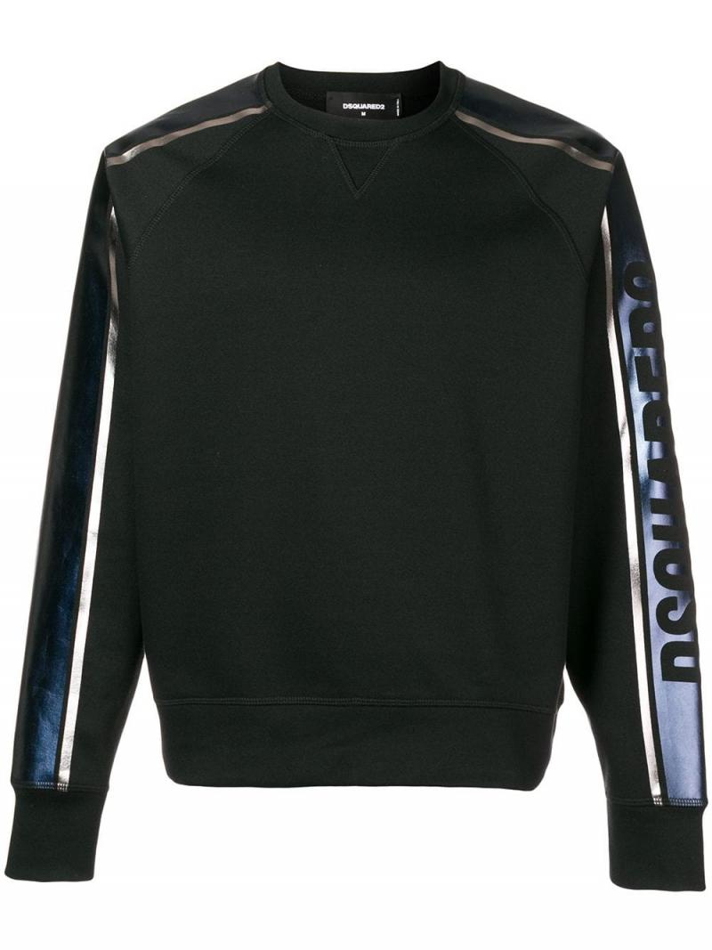 DSQUARED2 logo stripe sweatshirt