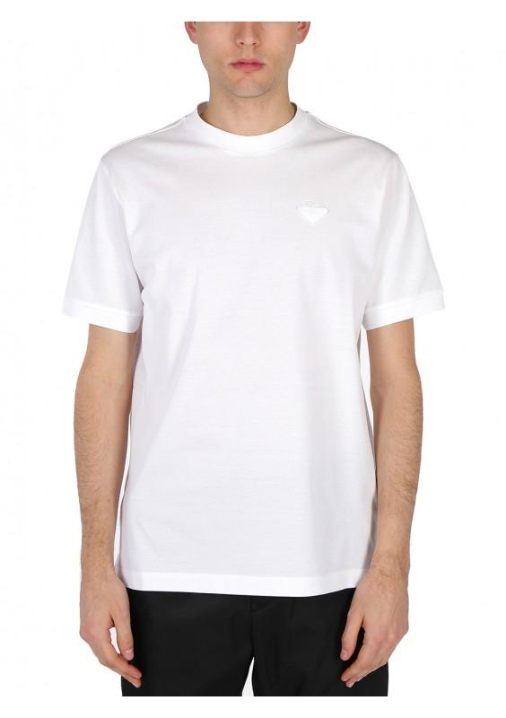 PRADA chest logo patch T-shirt