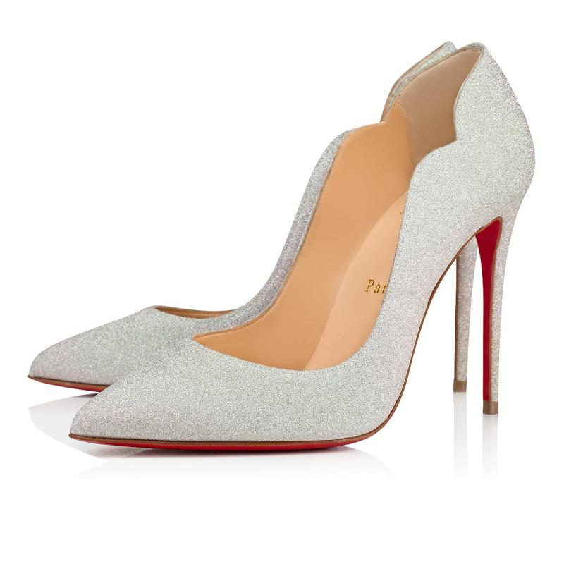 CHRISTIAN LOUBOUTIN Hot Chick Glitter Sunset 100mm