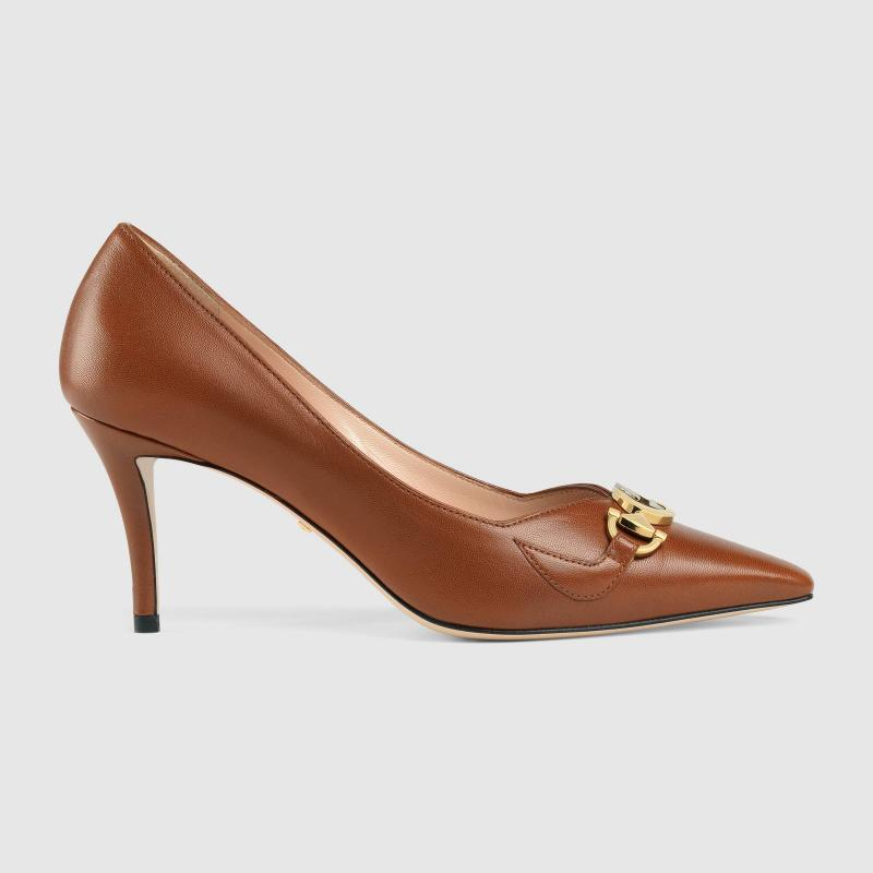 GUCCI Zumi mid-heel leather pump