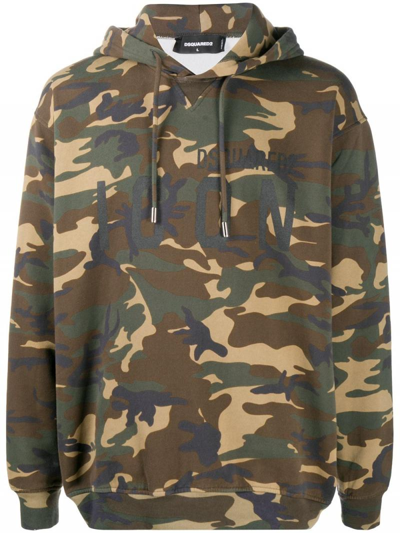 DSQUARED2 Camouflage Icon Hooded Sweatshirt